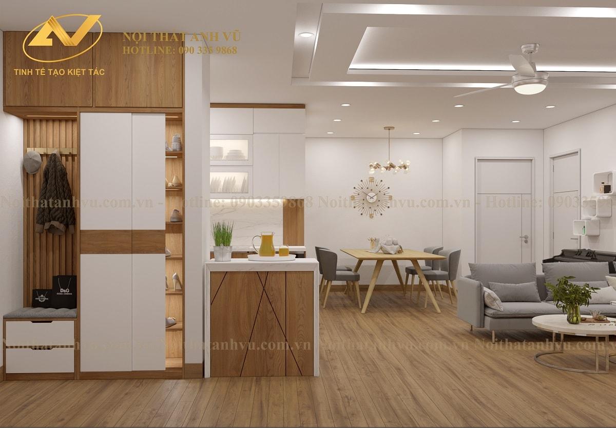 Thiết kế nội thất chung cư Homeland - Nội thất Anh Vũ