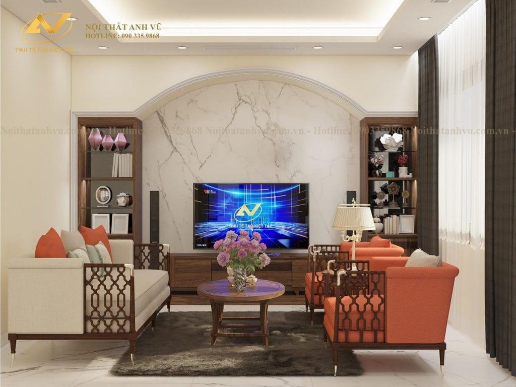 Thiết kế nội thất biệt thự Vinhome 2