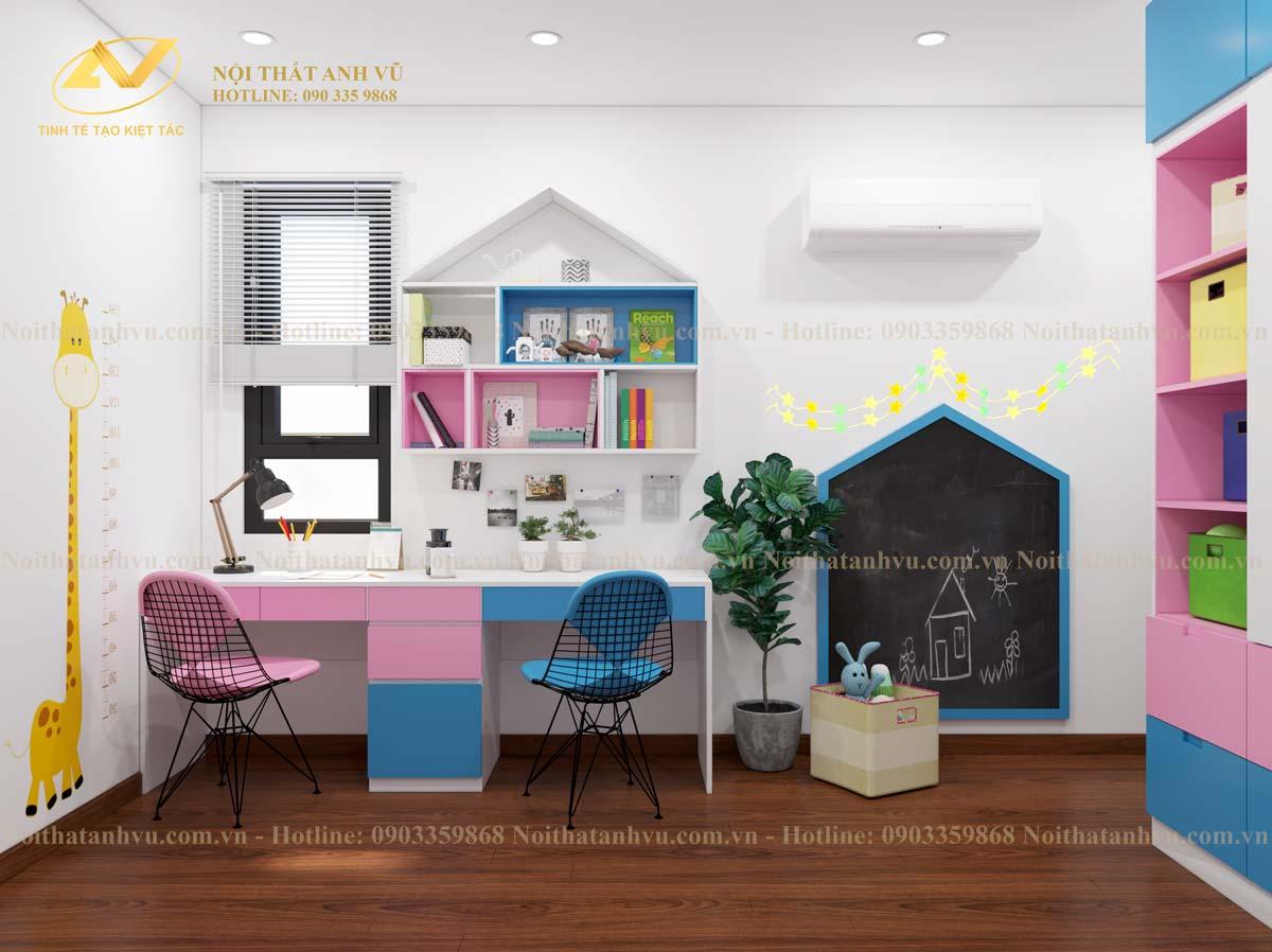 Thiết kế căn hộ chung cư homeland - Nội thất Anh Vũ