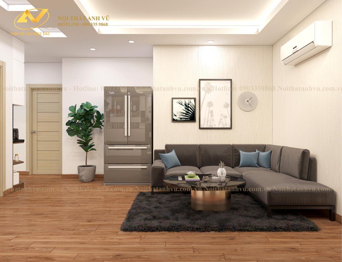 Mẫu thiết kế chung cư Ruby tại Long Biên - Nội thất Anh Vũ