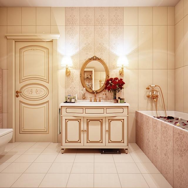 Phòng tắm phong cách nội thất Queen Anne