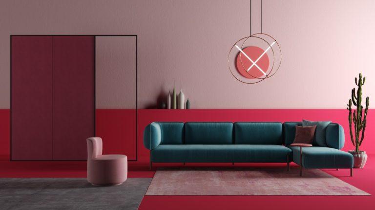 Thiết kế phfong màu hồng