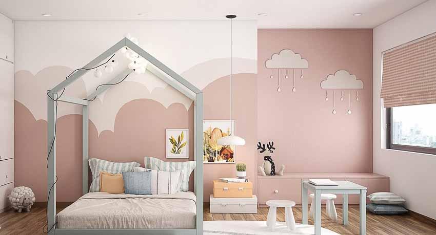 Thiết kế nhà màu hồng
