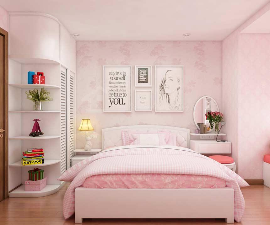 Trang trí nhà màu hồng