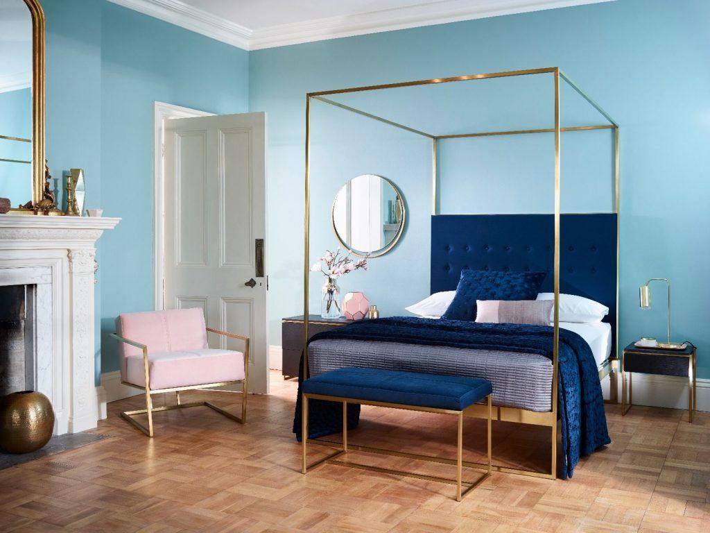 Thiết kế phòng ngủ với màu sắc của năm