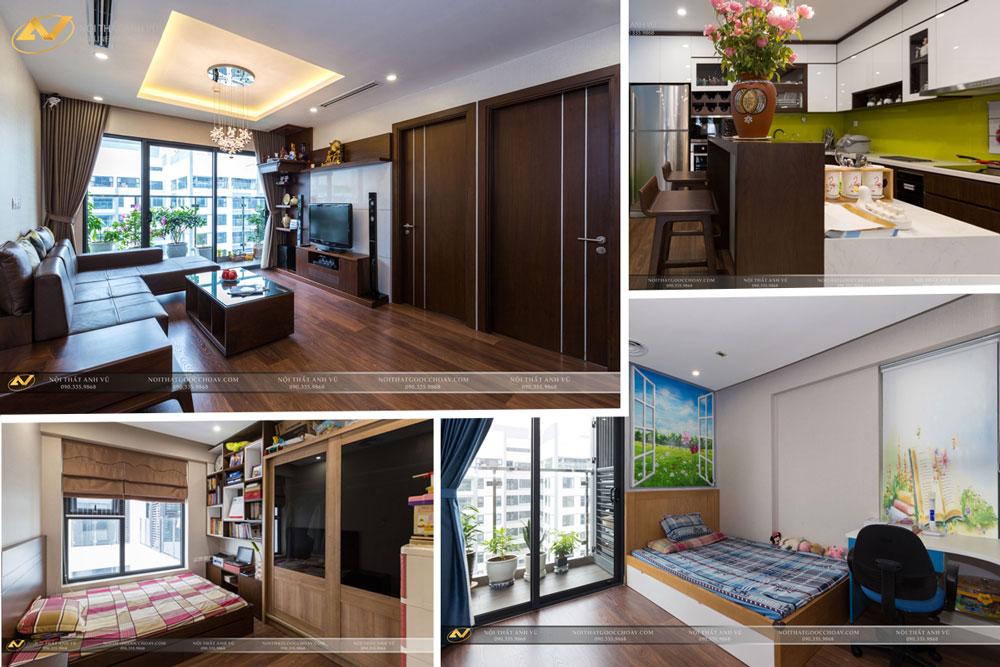 Thiết kế nội thất chung cư 2 phòng ngủ - Nội thất Anh Vũ