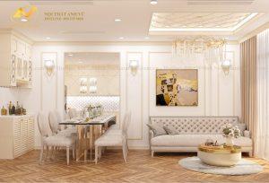 Thiết kế nội thất chung cư 2 phòng ngủ đẹp - Nội thất Anh Vũ
