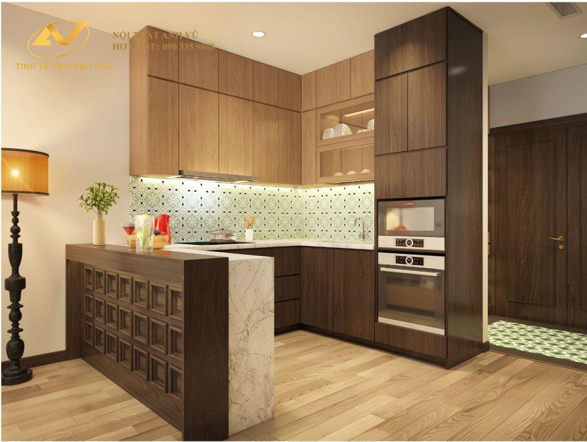 Thiết kế nội thất chung cư 2 phòng ngủ 70m2 Anh Tùng Sun Grand City Thụy Khuê 7