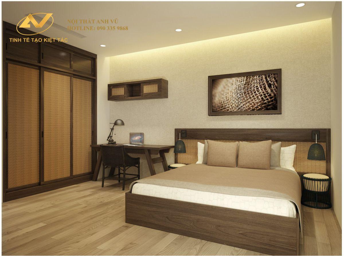Thiết kế nội thất chung cư 2 phòng ngủ 70m2 Anh Tùng Sun Grand City Thụy Khuê 9