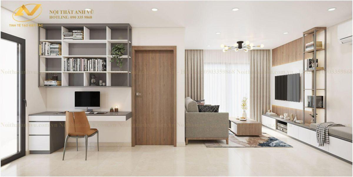 Thiết kế nội thất chung cư 2 phòng ngủ Chị Lê Vinhome Smart City Tây Mỗ 5