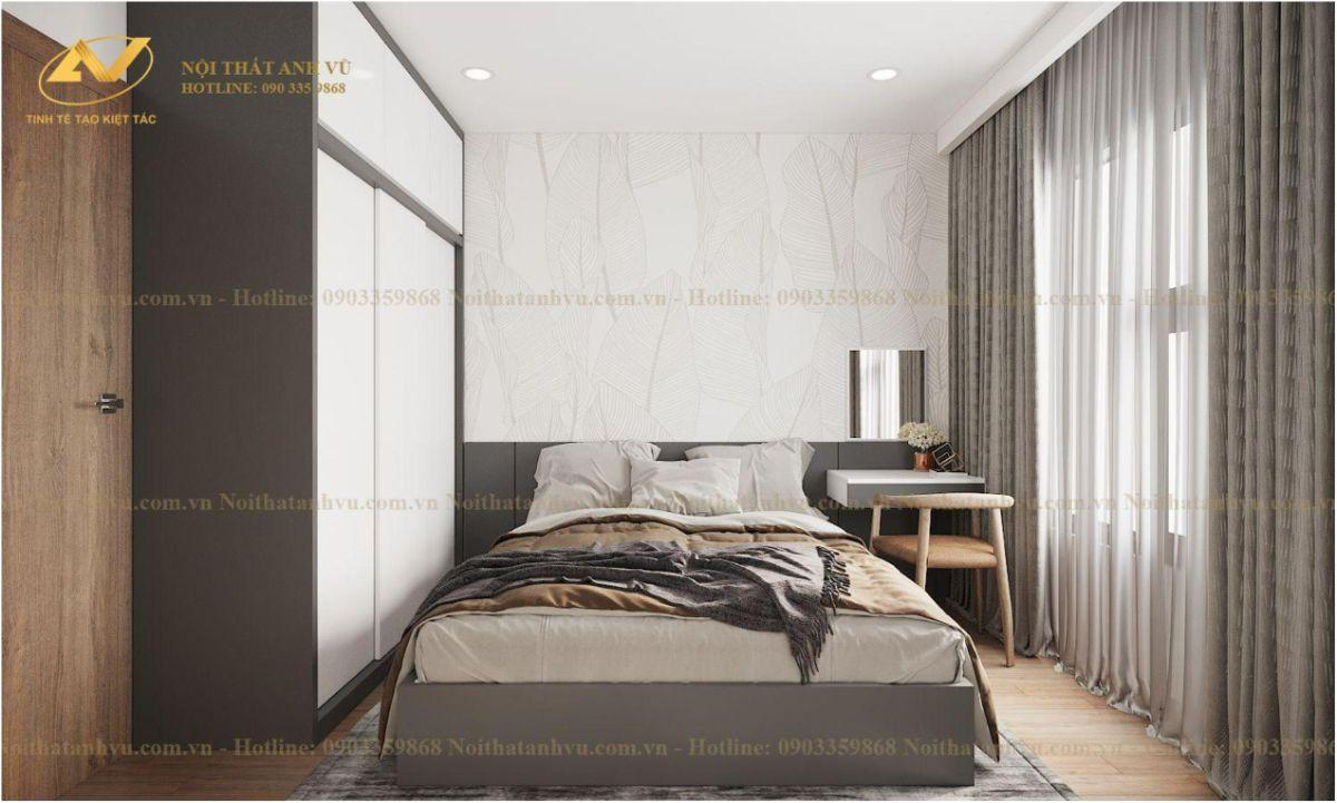 Thiết kế nội thất chung cư 2 phòng ngủ Chị Lê Vinhome Smart City Tây Mỗ 6