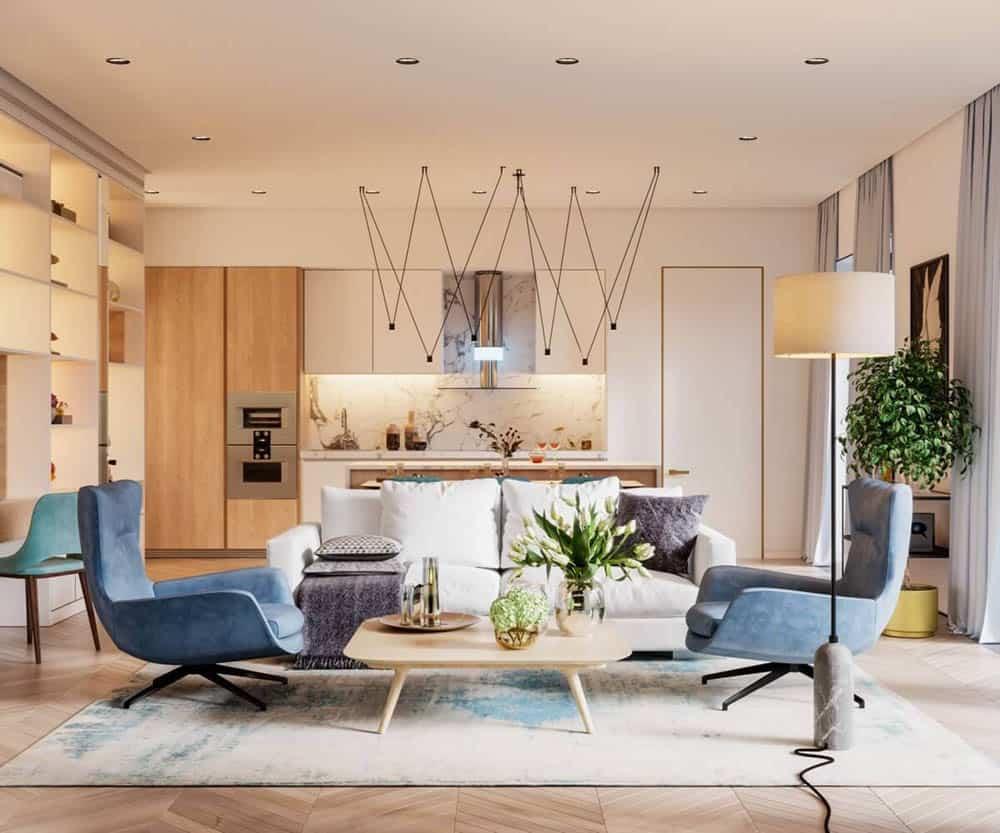 Không gian nội thất sử dụng ánh sáng