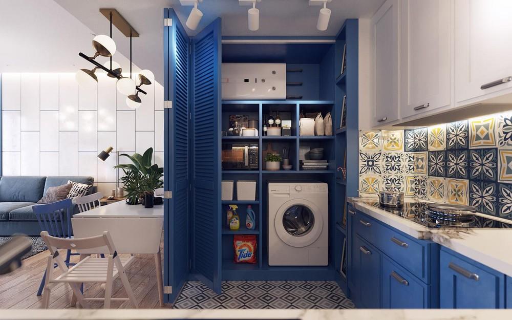 Xanh classic blue trong thiết kế nội thất
