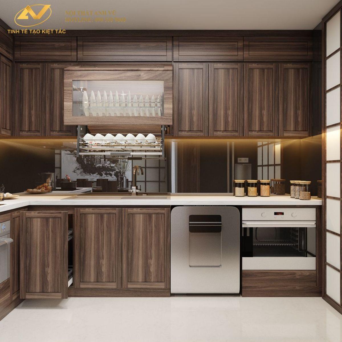 Phòng bếp chung cư 130m2 Anh Hoài 3