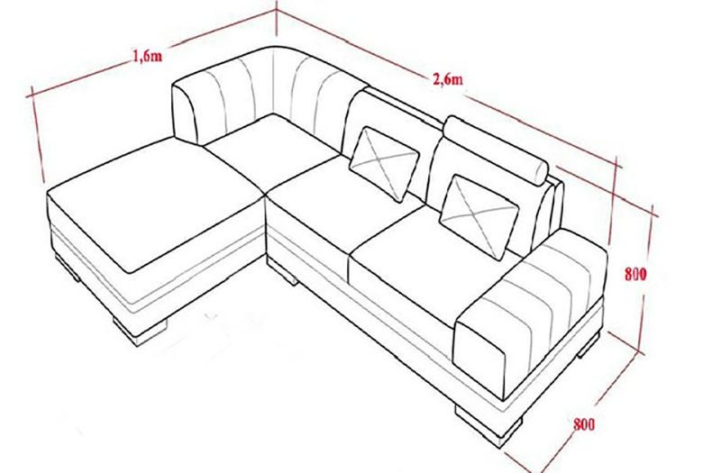 kích thước sofa chuẩn