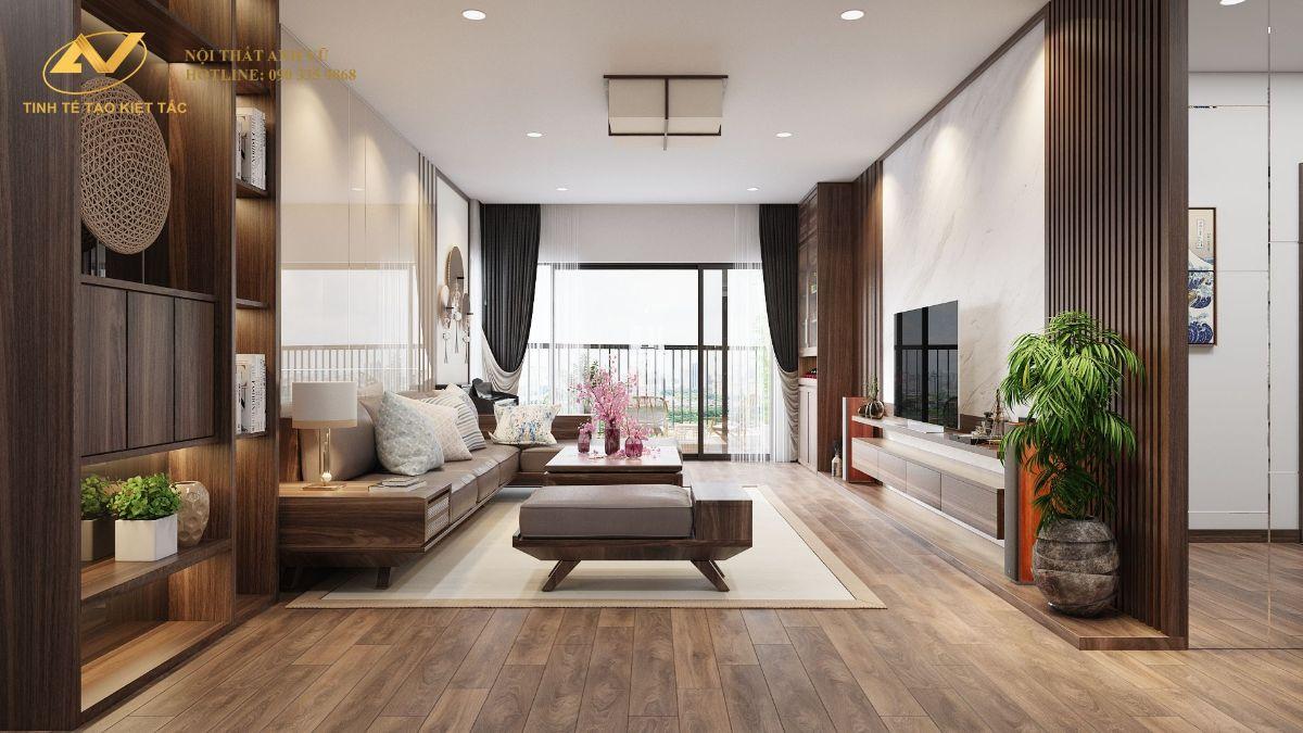 Thiết kế nội thất chung cư 130m2 Anh Hoài 2