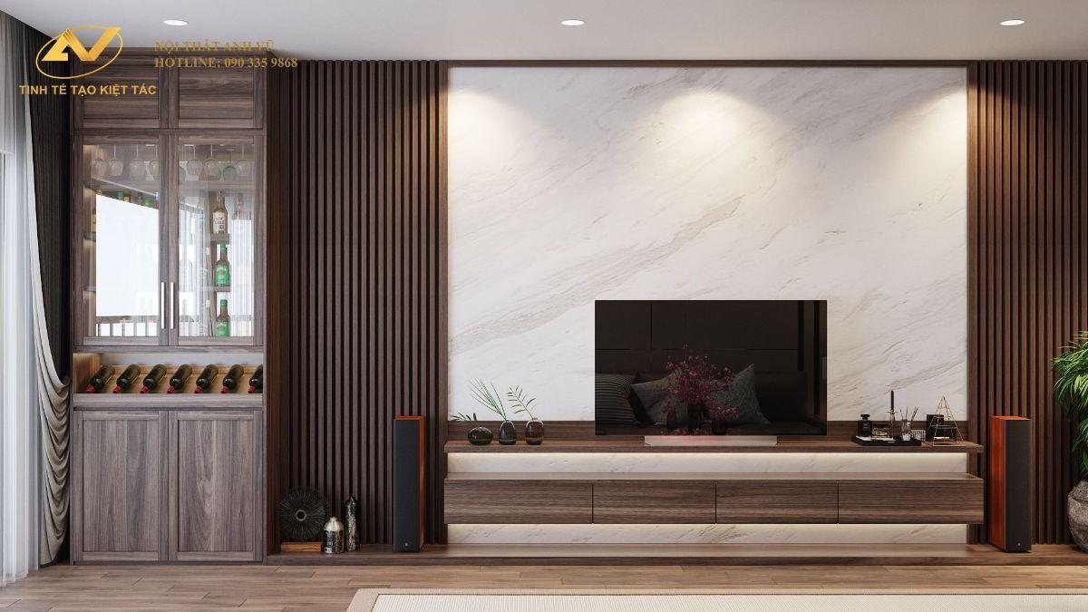 Thiết kế nội thất chung cư 130m2 Anh Hoài 6