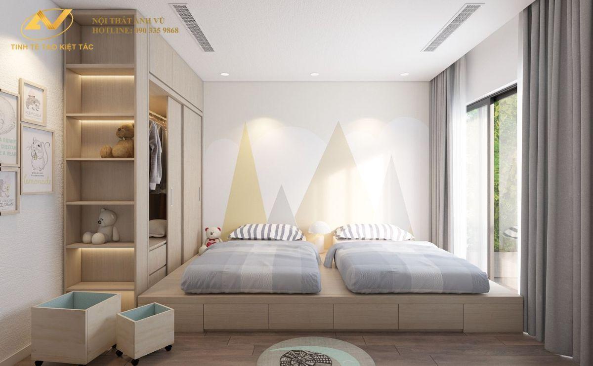 Phòng ngủ baby chung cư 130m2 Anh Hoài 1