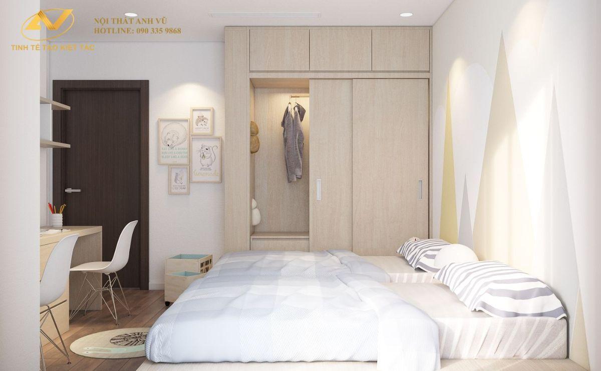 Phòng ngủ baby chung cư 130m2 Anh Hoài 2