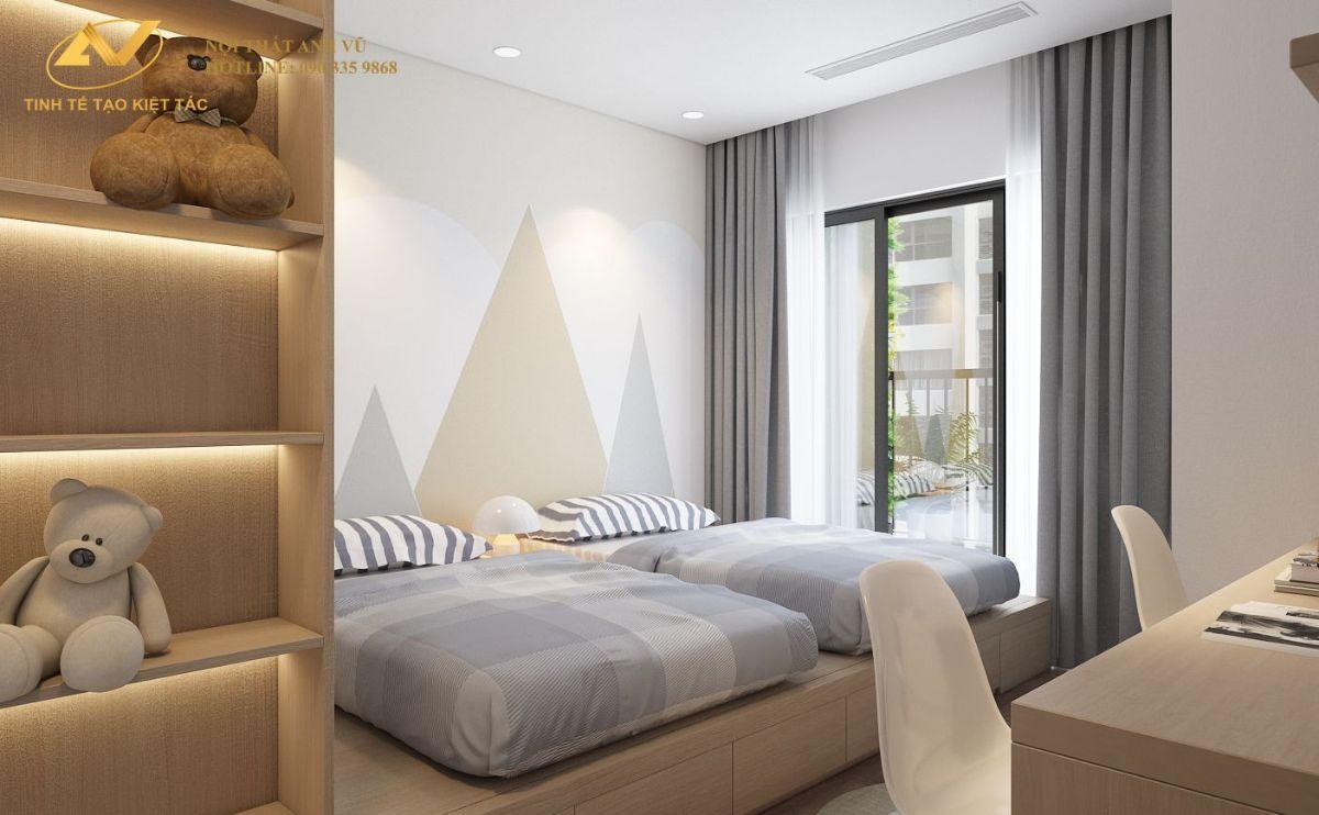 Phòng ngủ baby chung cư 130m2 Anh Hoài 4