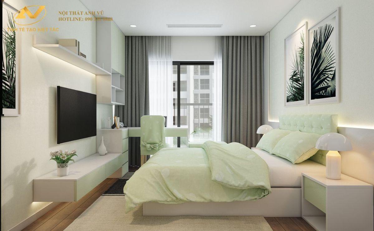 Phòng ngủ khách chung cư 130m2 Anh Hoài 4