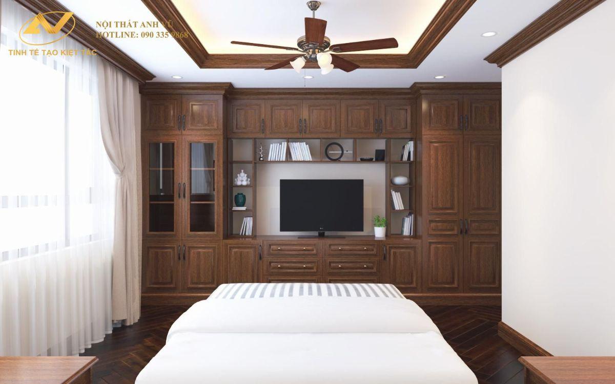 Phòng ngủ master chung cư anh Cường 120m2 885 Tam Trinh 2