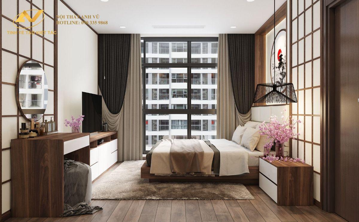 Phòng ngủ Master chung cư 130m2 Anh Hoài 1