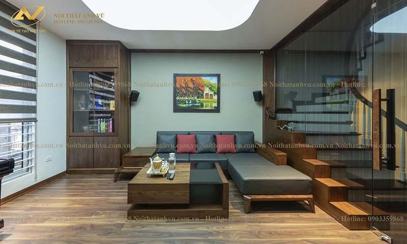 sofa phòng khách chữ L 6