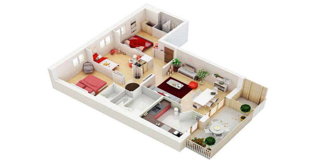 Thiết kế căn hộ hiện đại với màu gỗ sáng