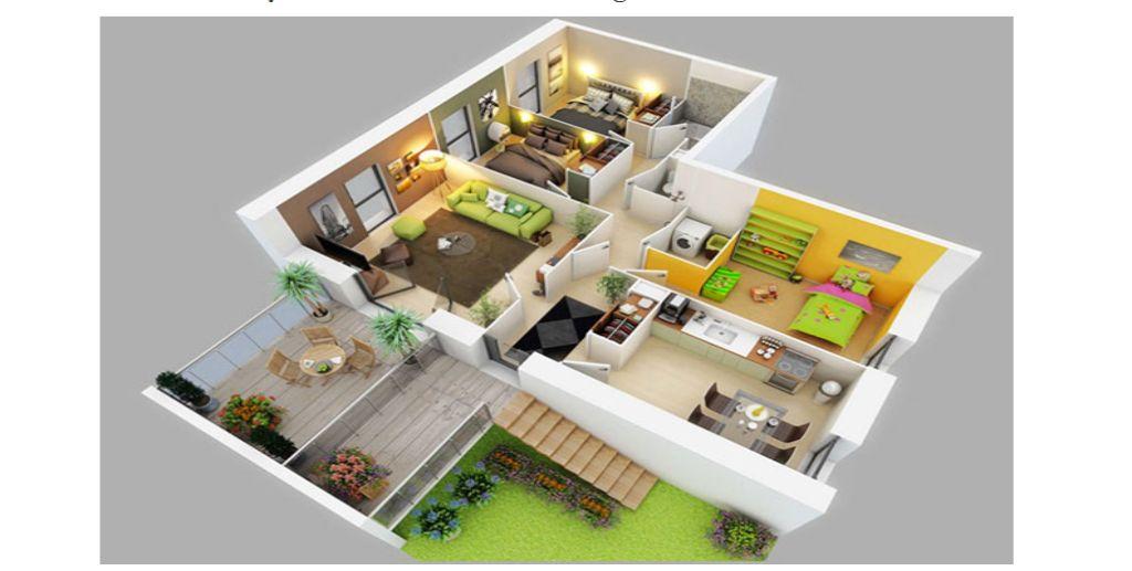 Thiết kế căn hộ với thảm cỏ xanh mướt thư giãn
