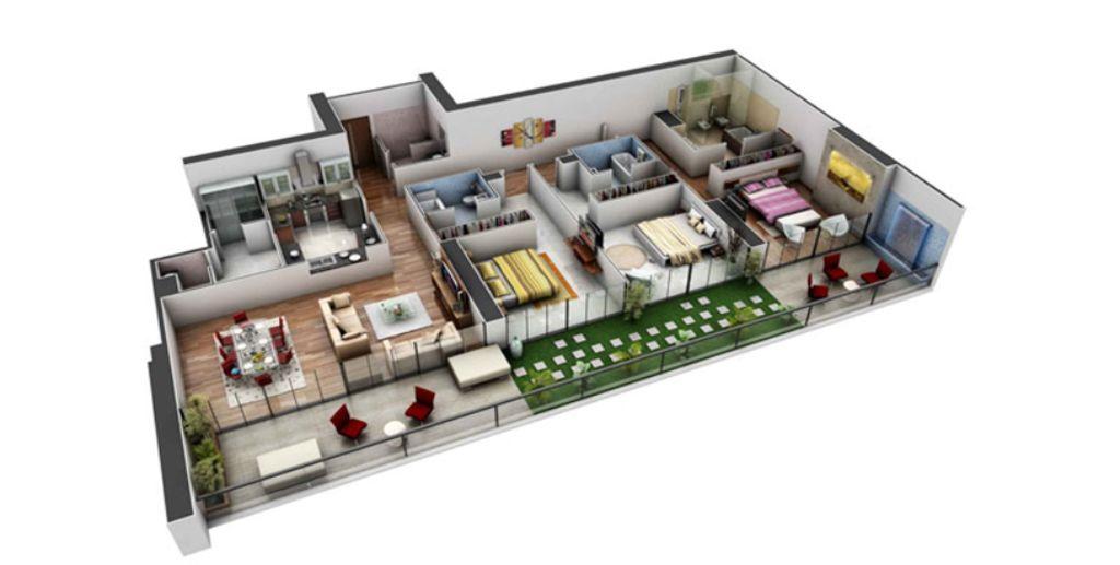 Thiết kế căn hộ chung cư cao cấp, hiện đại