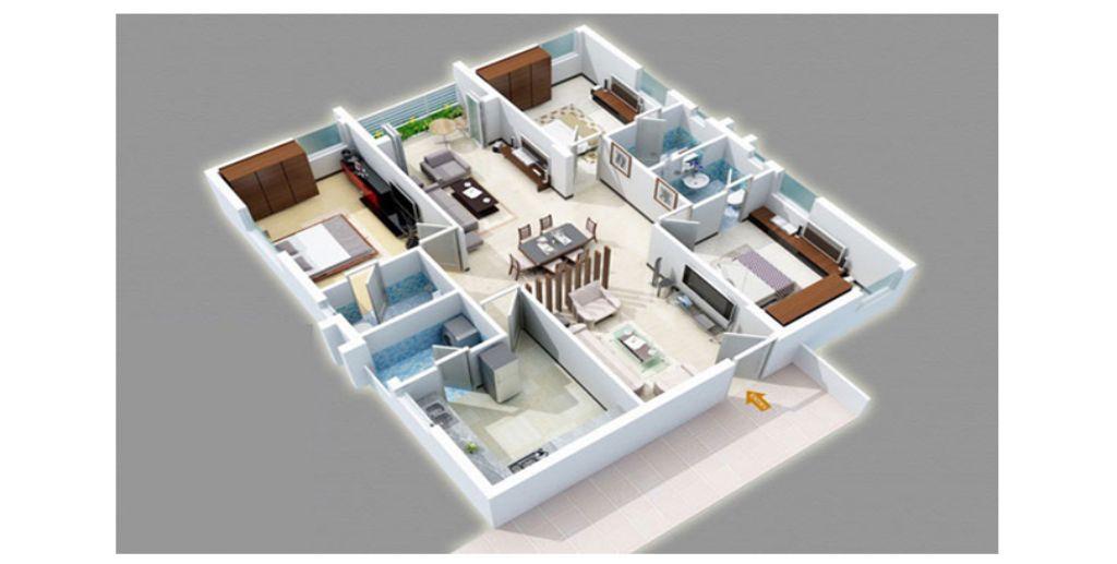 Thiết kế căn hộ phủ sắc trắng trang nhã