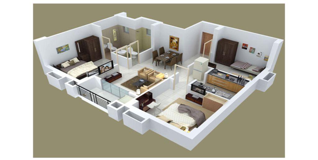 Thiết kế căn hộ với ban công thoáng gió