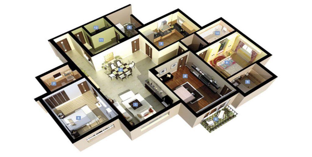 Mẫu thiết kế chung cư 3 phòng ngủ tinh tế