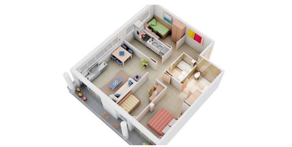 Căn hộ nhỏ với nội thất giản đơn