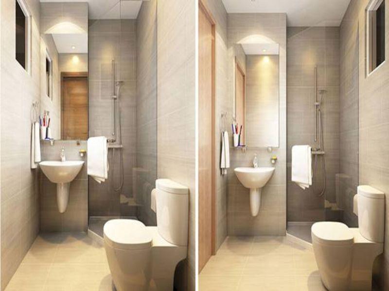 Thiết kế nội thất phòng tắm căn hộ 2 phòng ngủ