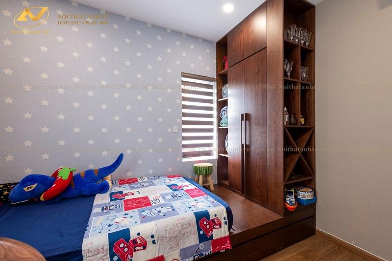 Bài trí nội thất 2 phòng ngủ trong chung cư