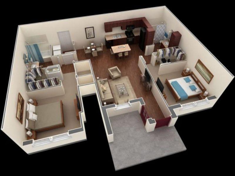 Các mẫu thiết kế nội thất căn hộ 2 phòng ngủ sang trọng và tiện nghi