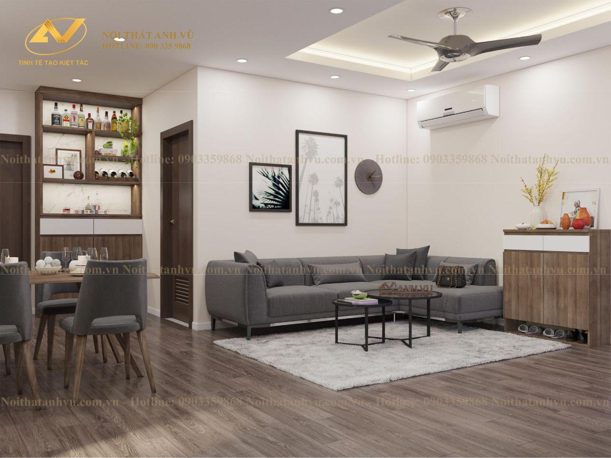 Thiết kế nội thất chung cư Anh Kiên Eurowindown 1