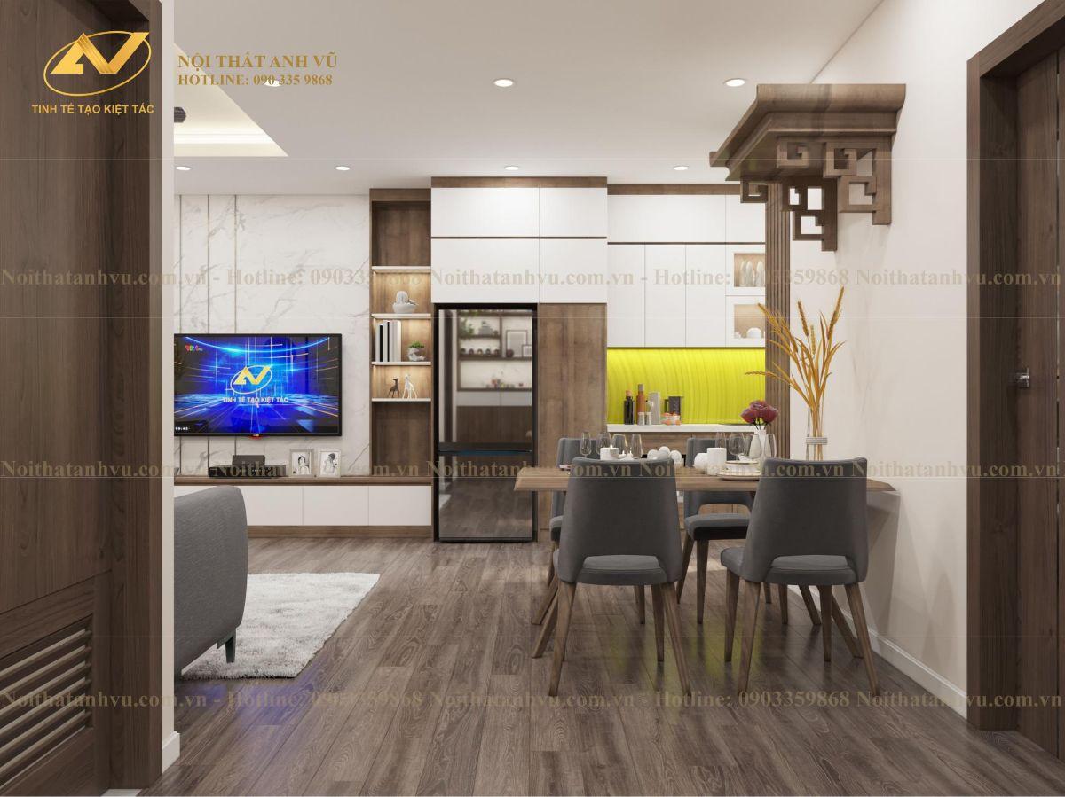 Thiết kế nội thất chung cư Anh Kiên Eurowindown 3