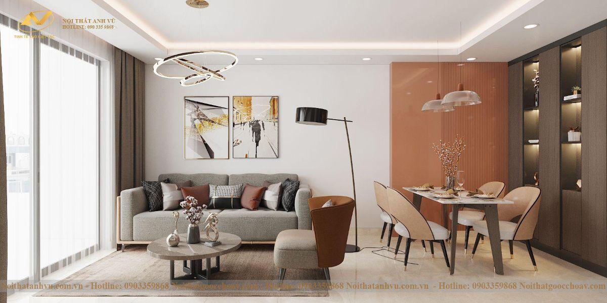 Thiết kế nội thất chung cư Anh Chung Bea sky 3