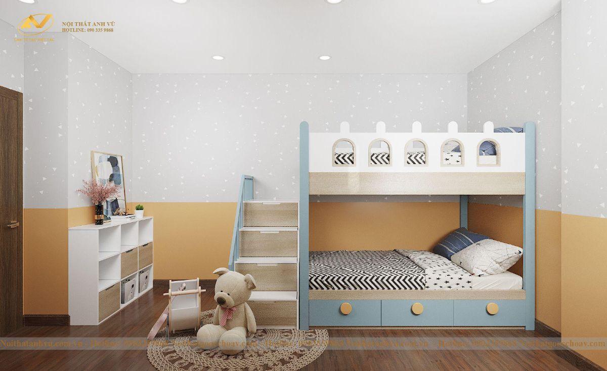 Thiết kế nội thất chung cư Anh Chung Bea sky 8