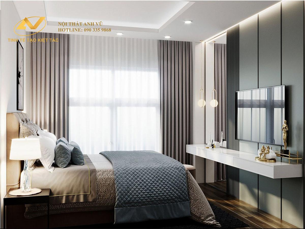 thiết kế nội thất căn hộ chung cư 55m2 đẹp như mơ