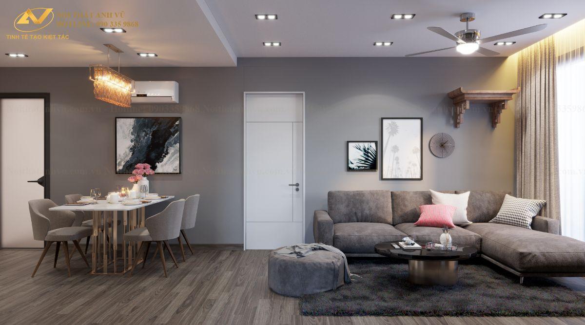 Thiết kế nội thất chung cư ngoại giao đoàn Anh Ngọc 3
