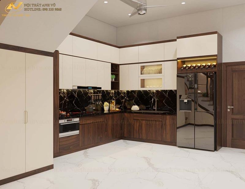 thiết kế phòng bếp gia đình chị Ánh 2