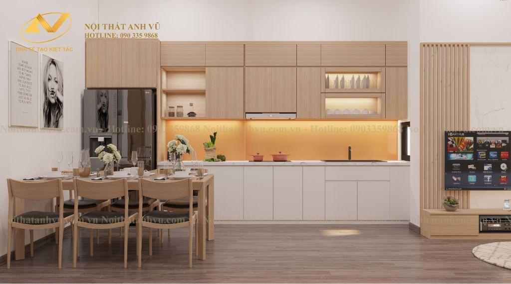 thiết kế nội thất chung cư nhà anh Tuấn Anh Ecopark 1