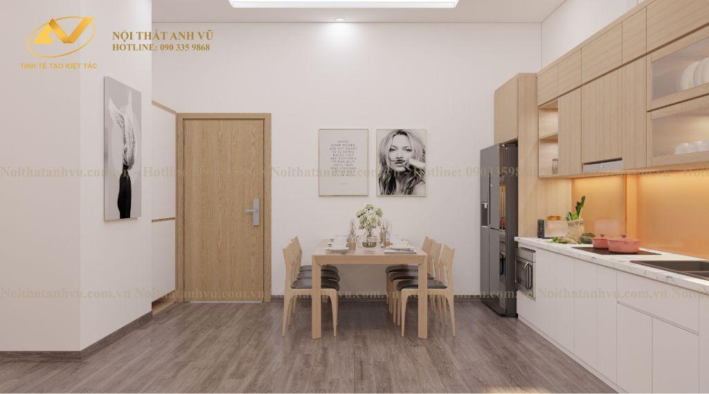 thiết kế nội thất chung cư nhà anh Tuấn Anh Ecopark 3