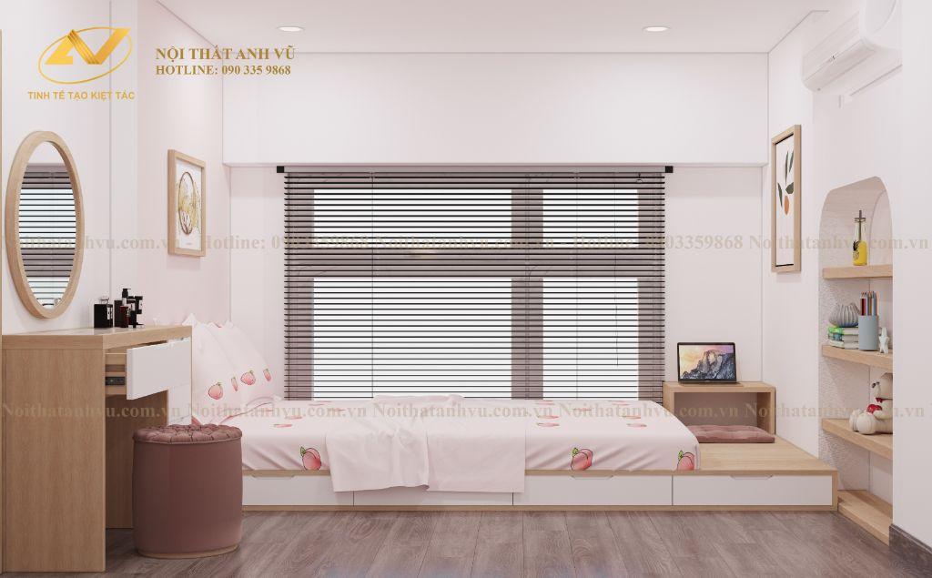 thiết kế nội thất chung cư nhà anh Tuấn Anh Ecopark 6