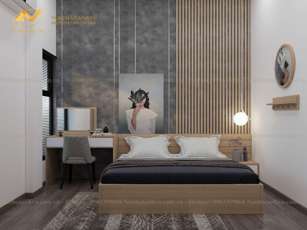 thiết kế nội thất chung cư nhà anh Tuấn Anh Ecopark 7
