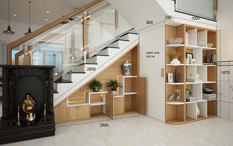 Những lưu ý khi thiết kế tủ gầm cầu thang đẹp